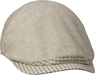Henschel Mens Duckbill Ivy Hat with Plaid Visor and Elastic Back, Beige, One Size