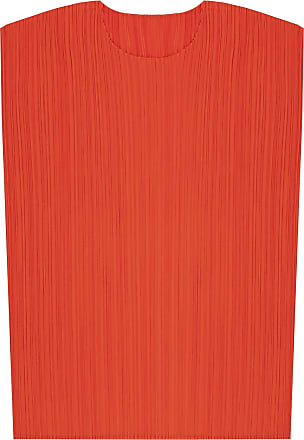 Issey Miyake Pleated Tank Top Womens Red