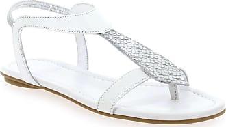 78da84d788d Reqins NEW - Sandales et nu-pieds Reqins BERNIE MIX SNAKE blanc pour Femme