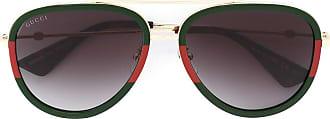 Gucci Óculos de sol armação aviador - Verde