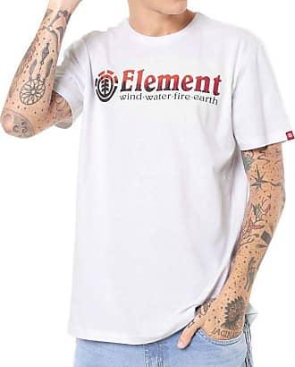 Element Camiseta Element Glimpse Horizontal Branca