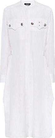 CALVIN KLEIN 205W39NYC Gestreiftes Hemdblusenkleid aus Baumwolle