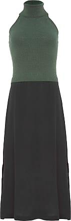 FYI Vestido Midi Sobreposição Tricot - Verde