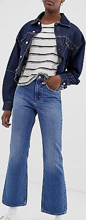 Weekday Mile - Mittelblaue Bootcut-Jeans