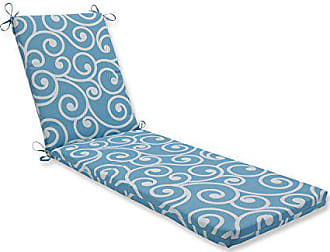 Pillow Perfect Outdoor/Indoor Best Turquoise Chaise Lounge Cushion 80x23x3
