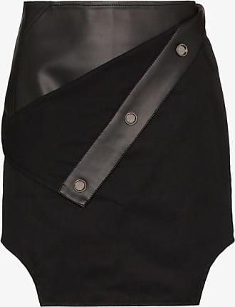 Zilver Womens Black Faux Leather Detail Mini Skirt