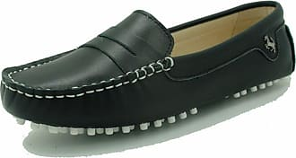 MGM-Joymod Womens Rubber Sole Slip-on Casual Comfortable Black Leather Driving Loafers Flats Outdoor Hiking Slide Boat Shoes 4.5 M UK