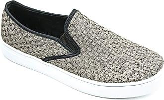bernie mev. Womens Verona Woven Slip-On Sneaker (Bronze, 5)