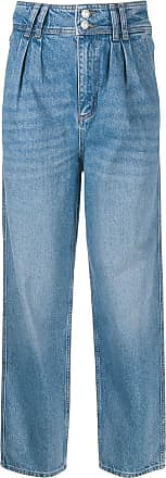 Sandro high-rise pleated jeans - Blue