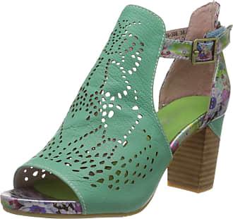 Laura Vita Womens Bernie 30 Open Toe Sandals, Green (Vert Vert), 6 UK