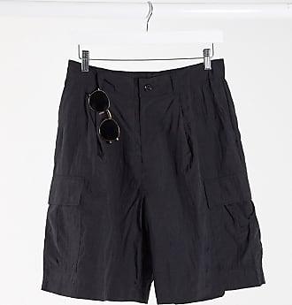 Weekday Linton Cargo Shorts in Black