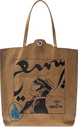 Lanvin Branded Tote Bag Mens Brown