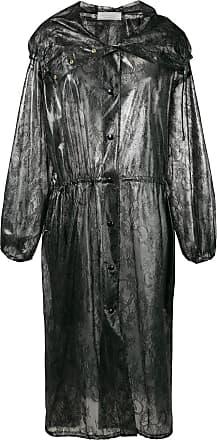 Nina Ricci lace print raincoat - Preto