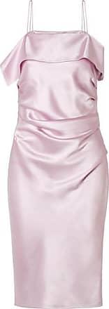 Helmut Lang Ruched Satin Dress - Baby pink