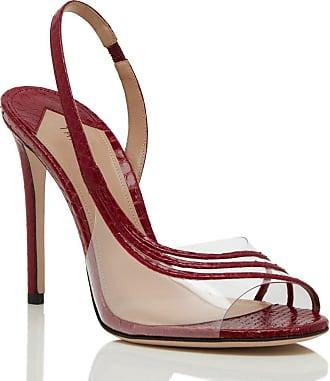 Tamara Mellon Corbu Red Pvc/Elaphe Sandals, Size - 37.5