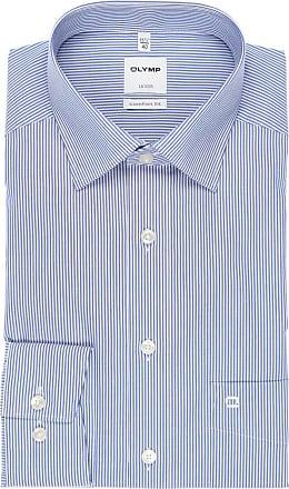 Olymp Luxor Comfort Fit Hemd blau/weiss, Zündholzstreifen