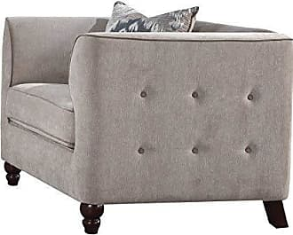 ACME 52057 Cyndi Chair, Light Gray