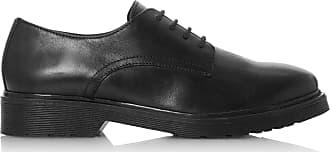 Dune London Dune Ladies Womens Flare Lace Up Shoes Size UK 3 Black Flat Heel Lace Up Shoes