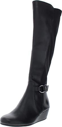 Kenneth Cole Reaction Womens tip Round Toe Mid-Calf Fashion, Black, Size 5.0 US US