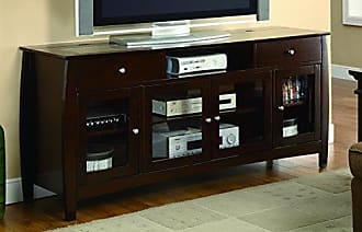 Coaster Fine Furniture Connect-It TV Console Walnut and Clear