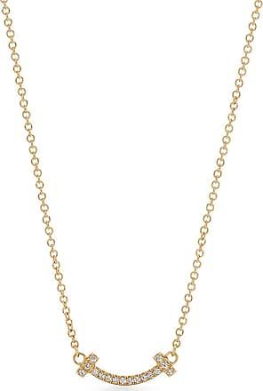Tiffany & Co. Tiffany T smile pendant in 18ct gold with diamonds, micro