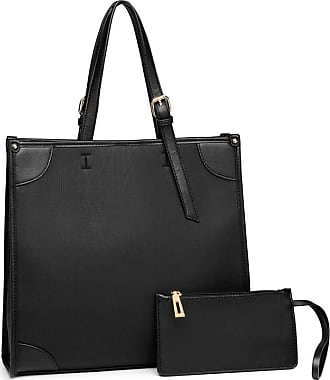 Quirk 2 PIECE SIMPLE SQUARE SHOULDER BAG - BLACK