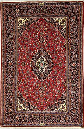Nain Trading 226x147 Tappeto Orientale Keshan Shadsar Grigio Scuro/Ruggine (Lana, Persia/Iran, Annodato a mano)