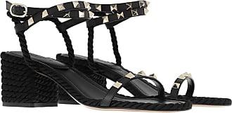 Valentino Sandals - Rockstud Espandrille Black - black - Sandals for ladies