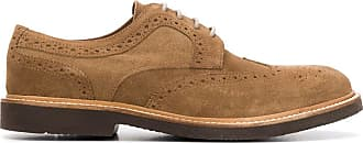 Eleventy perforated low-heel Oxford shoes - Brown