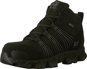 Timberland PRO Mens CSA Powertrain Mid Work Boot, Black Synthetic, 9 W US