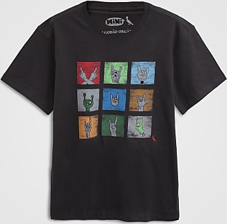 Reserva Mini Camiseta Reserva Mini Infantil Rock Preta