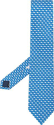 605345db40a53 Salvatore Ferragamo Gravata com estampa de porco - Azul