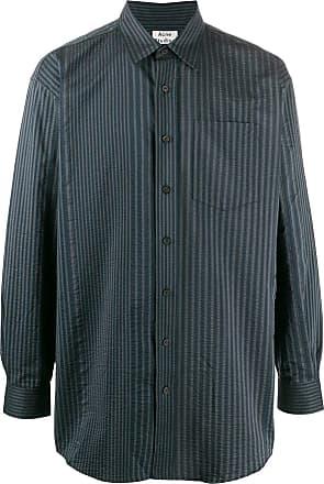 Acne Studios long striped shirt - Blue