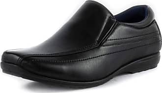 US Brass Mens Black Tramline Stitch Loafer Shoe - Size 11 UK - Black