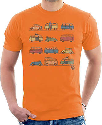 Volkswagen Vans and Beetles Mens T-Shirt Orange