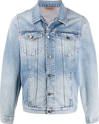 Missoni Jaqueta jeans com efeito desbotado - Azul