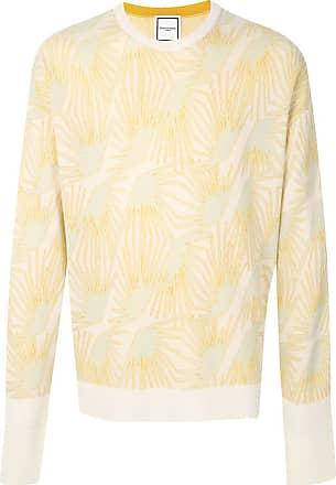 Wooyoungmi Suéter com estampa geométrica - Branco