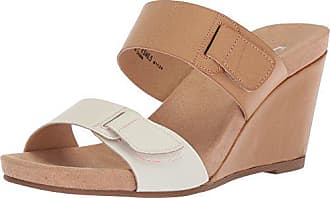 Chinese Laundry Womens Tasty Wedge Sandal, White/Pale Nude, 6 M US