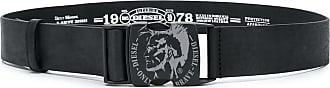 Diesel Cinto Mohawk com logo - Preto