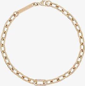 Zoë Chicco Womens 14k Yellow Gold Medium Square Chain Pavé Diamond Bracelet