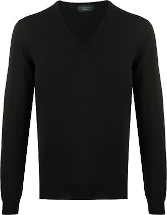 Zanone V-neck sweater - Black