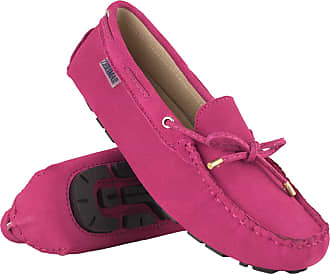 Zerimar Moccasins Womens Shoes | Loafers for Women | Leather Flats Women | Casual Moccasin Loafer Leather Fuchsia