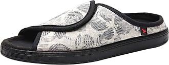 Insun Unisex Adjustable Memory Foam Slippers for Swollen Foot White 3.5 UK Wide Women 3.5 UK Wide Men