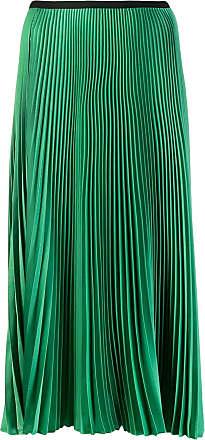 Blanca Saia midi plissada - Verde