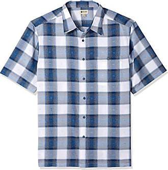 Haggar Mens Big and Tall Big&Tall Short Sleeve Microfiber Woven Shirt, Sailor b, Large