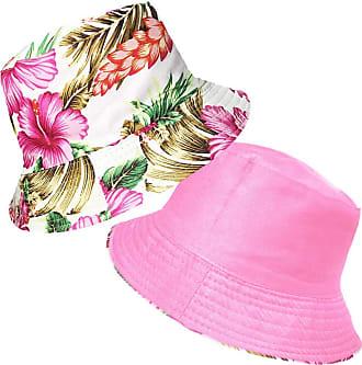 TOSKATOK Ladies Womens Reversible Cotton Retro Floral Bush Bucket Sun Hat-Pink