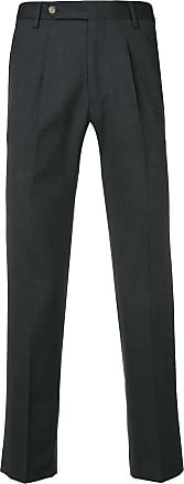 Entre Amis creased tapered trousers - Cinza