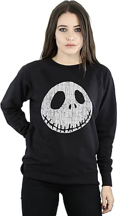 Disney Womens Nightmare Before Christmas Jack Cracked Face Sweatshirt XX-Large Black