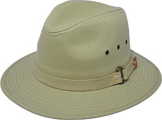 Hawkins Mens Fixed Shape Lightweight Cotton Summer Fedora Sun Hat BEIGE SIZE L 59CM