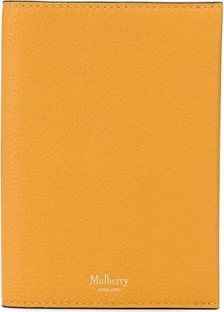 Mulberry Porta-passaporte com efeito granulado - Amarelo
